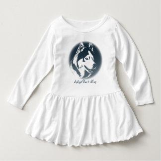 Vestidos fornidos del bebé del perrito del vestido vestido con volantes para niñas