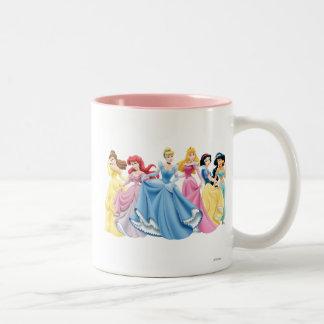 Vestidos que se sostienen de la princesa el | de taza de café de dos colores
