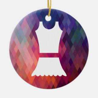 Vestidos simples gráficos adorno redondo de cerámica
