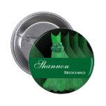 Vestidos verdes M398 de Kelly del botón del Pin de