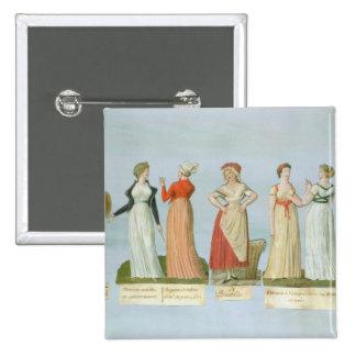 Vestidos y trajes en voga pin cuadrado
