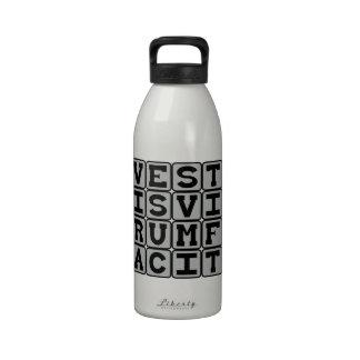 Vestus Virum Facit, Clothes Make The Man Latin Drinking Bottles