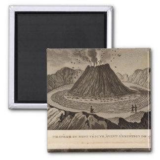 Vesuve, Dolomieu 2 Inch Square Magnet