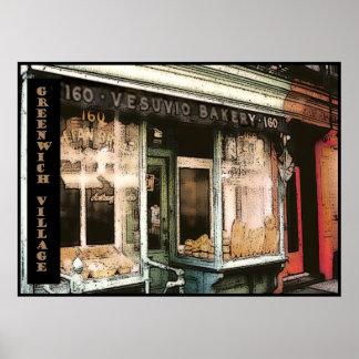Vesuvio Bakery, NYC, poster