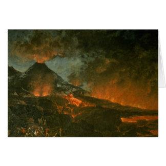 Vesuvio que entra en erupción tarjeta de felicitación