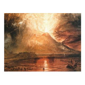 Vesuvio que entra en erupción postal