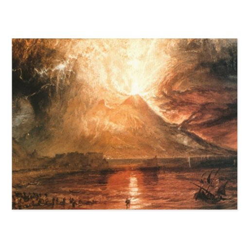 Vesuvio que entra en erupción tarjetas postales