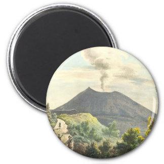 Vesuvius Active Volcano 1832 Naples Italy 2 Inch Round Magnet