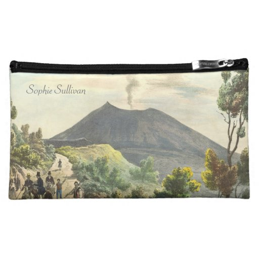 Vesuvius Active Volcano 1832 Naples Italy Cosmetic Bags