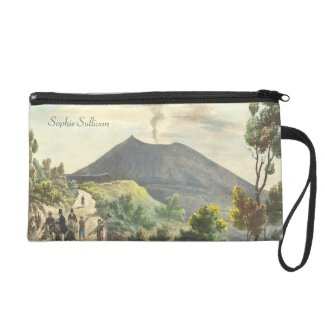 Vesuvius Active Volcano 1832 Naples Italy Wristlet Clutch