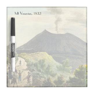 Vesuvius Active Volcano 1832 Naples Italy Dry Erase Boards