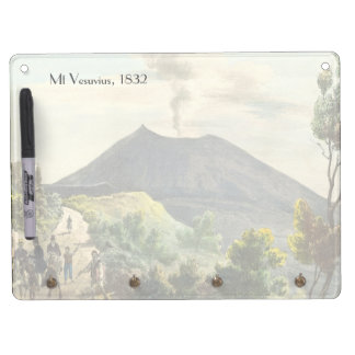 Vesuvius Active Volcano 1832 Naples Italy Dry Erase Whiteboards
