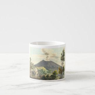 Vesuvius Active Volcano 1832 Naples Italy Espresso Cup