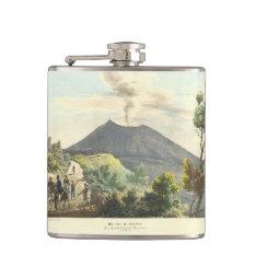 Vesuvius Active Volcano 1832 Naples Italy Flask at Zazzle