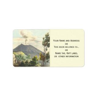 Vesuvius Active Volcano 1832 Naples Italy Label at Zazzle