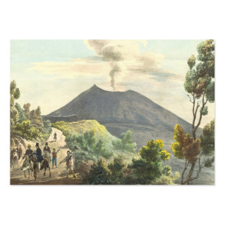 Vesuvius Active Volcano 1832 Naples Italy Large Business Card
