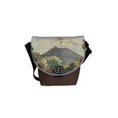 Vesuvius Active Volcano 1832 Naples Italy (Mini) Courier Bag at Zazzle