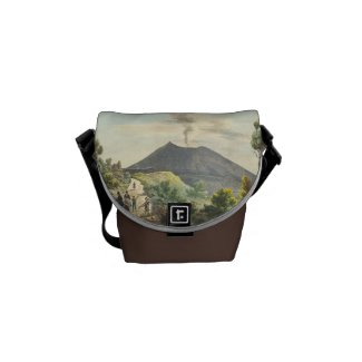Vesuvius Active Volcano 1832 Naples Italy (Mini) Messenger  Bags