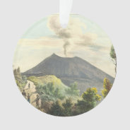 Vesuvius Active Volcano 1832 Naples Italy Ornament at Zazzle