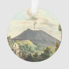 Vesuvius Active Volcano 1832 Naples Italy Ornament at Zazzle