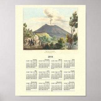 Vesuvius Active Volcano 1832 Naples Italy Posters