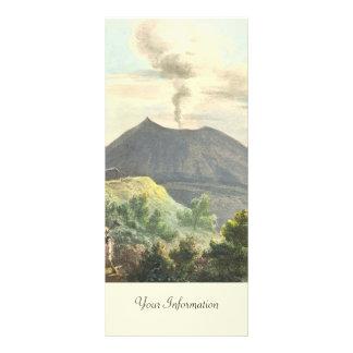 Vesuvius Active Volcano 1832 Naples Italy Rack Card