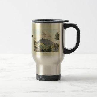Vesuvius Active Volcano 1832 Naples Italy Travel Mug