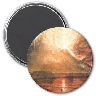 Vesuvius Erupting 3 Inch Round Magnet