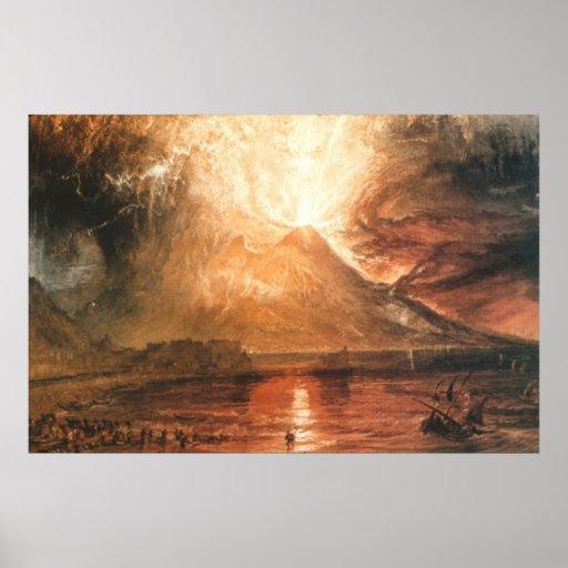 Vesuvius Erupting Canvas Print