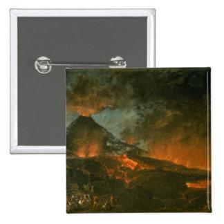 Vesuvius Erupting Pinback Button