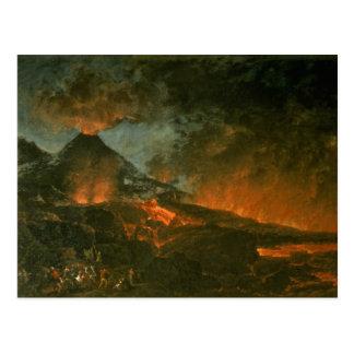 Vesuvius Erupting Postcard