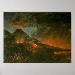 Vesuvius Erupting Poster