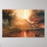 Vesuvius Erupting Posters