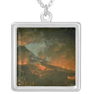 Vesuvius Erupting Silver Plated Necklace