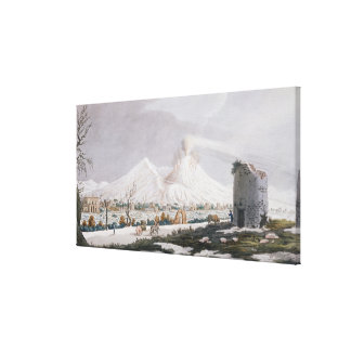 Vesuvius in Snow plate V from Campi Phlegraei O Canvas Prints