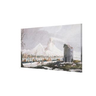 Vesuvius in Snow, plate V from 'Campi Phlegraei: O Canvas Print