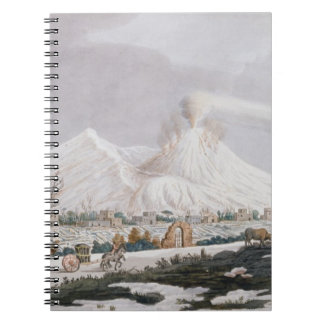 Vesuvius in Snow, plate V from 'Campi Phlegraei: O Notebook