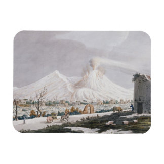 Vesuvius in Snow, plate V from 'Campi Phlegraei: O Rectangular Photo Magnet
