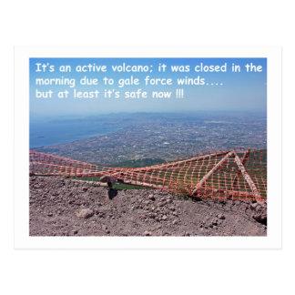 Vesuvius Volcano Humour Postcard
