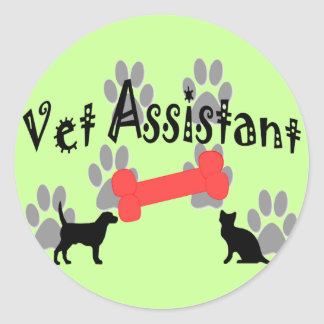 Vet Assistant Gifts Classic Round Sticker