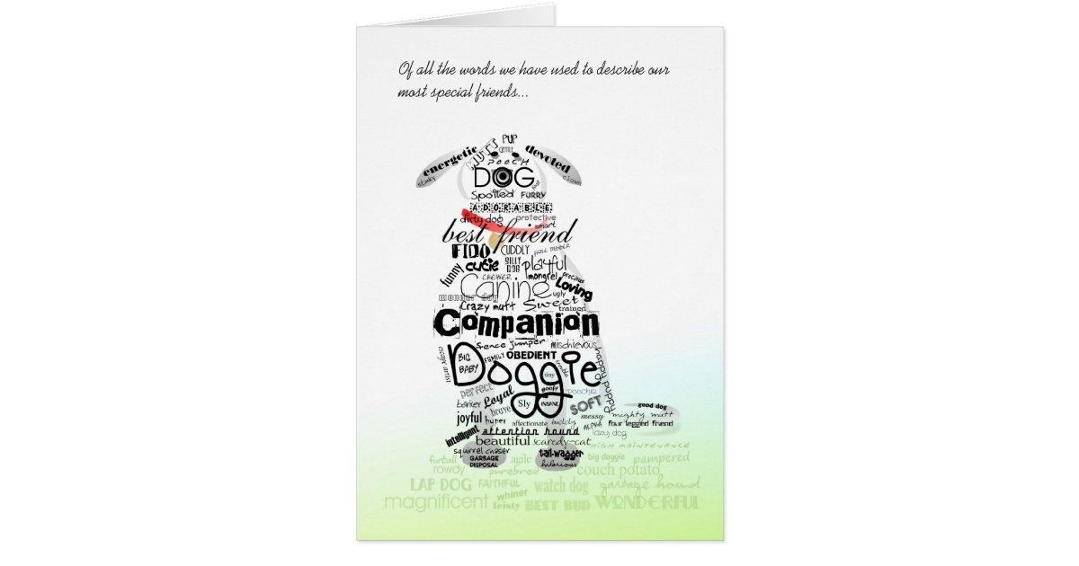 Vet & Business Card - Dog Sympathy Card - Words | Zazzle.com
