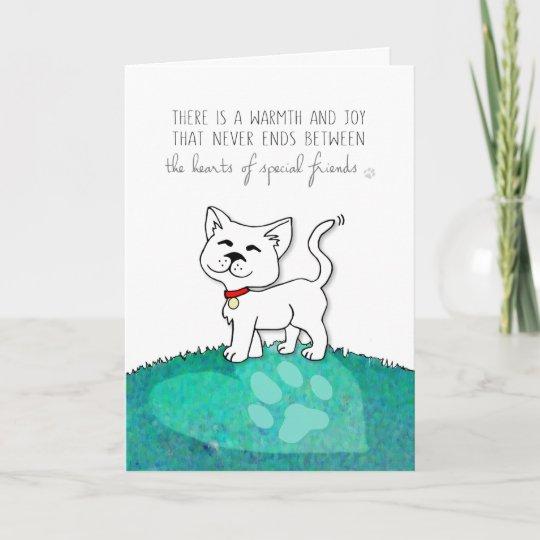 vet business cat sympathy card warmth joy zazzle com