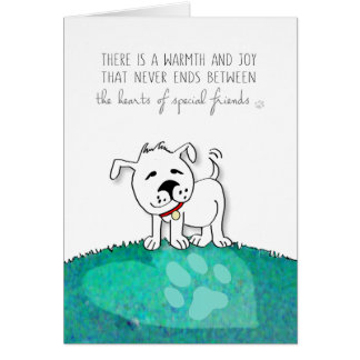 Vet & Business Dog Sympathy Card - Warmth & Joy