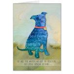 Vet & Business PitBull Dog Sympathy Card