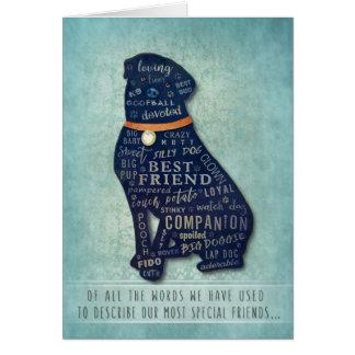 Vet & Business Rottweiler Dog Sympathy Card