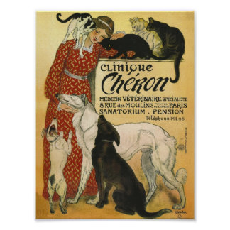 Vet gift Office French Vintage vet advert Poster