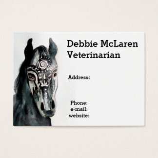 Vet horse Doctor appointment and business card