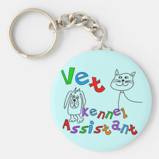 Vet Kennel Assistant T-Shirts and Gifts Keychain