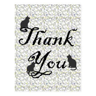 Vet Office Thank You Card to Cat Owners