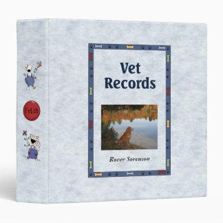 Vet Records - Customizable Vinyl Binders